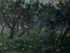 Künstlerische Malerei von 1800-1899 auf Leinwand-mit Landschafts- & Stadt-Motiv