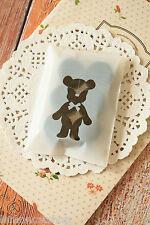 Ours Mignon Blanc CELLO Cookie Sac kawaii en plastique doux Fête Emballage Papier Cadeau