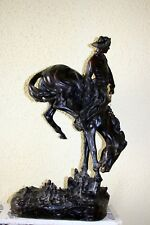 AMERICAN SCULPTOR FREDERIC REMINGTON, copyrighted SCULPTURE of COWBOY, 1900`s