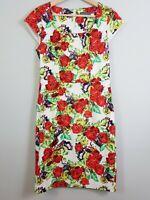 [ JACQUI.E ] Womens Floral Print Dress - As new   Size AU 10 or US 6