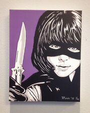 HIT GIRL KICK-ASS CHLOE GRACE MORETZ ORIGINAL CANVAS PRINT READY TO HANG!!!