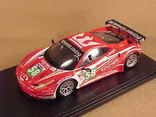 Fujimi 1/43 Resin Ferrari 458 Italia, 2011 LeMans, Luxury Racing #58 #TSM11FJ019