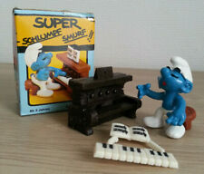 SUPER SMURF SCHTROUMPF PIANISTE PIANO 40229 Schleich NEUF COMPLET