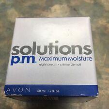 Avon Solutions P.M. Maxium Moisture Night Cream 1.7 oz new in discontinued
