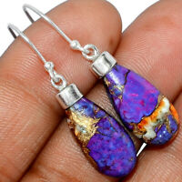 New Oyster Purple Turquoise 925 Sterling Silver Earrings Jewelry XGB XGB BE1422