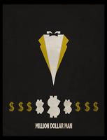 Ted DiBiase Million Dollar Wrestling Legends Series Glossy Print 8x10 WWF WCW