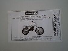 advertising Pubblicità 1979 MOTO OSSA TRIAL 350