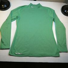 UNDER ARMOUR FITTED COLD GEAR MOCK TURTLENECK SHIRT Sz Womens XXL Green