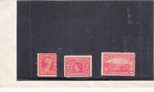 1909 Mint 2ct Reds: Lincoln MH #377,  Steward NG #370, and Hutson-Fulton NG #372