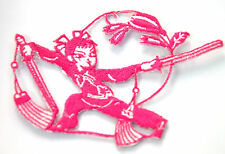 MARTIAL ARTS NINJA SWORDS P Embroidered Iron Sew On Cloth Patch Badge  APPLIQUE