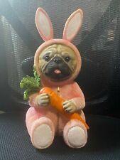 Bulldog or Pug Easter Figurine