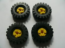Lego 4 roues jaunes set 1106 9287 4226 4222 / 4 yellow wheels