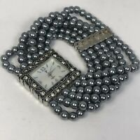 Unbranded PL2026S Womens Beads Pearl Style Bracelet Quartz Analog Watch