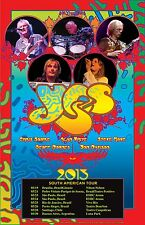 """YES """"SOUTH AMERICAN TOUR 2013"""" CONCERT POSTER -Group, Logo, Album Covers & Dates"""