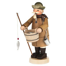Standing Wooden Fisherman Holding Bucket Incense Burner Smoker Made In Germany