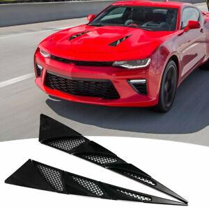 Car SUV Black Decorative Air Flow Intake Scoop Bonnet Simulation Vent Cover Hood
