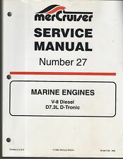 1999 MERCRUISER MARINE ENGINES V-8 DIESEL SERVICE MANUAL # 27 P/N 90-8611784