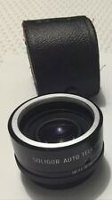 Soligor Pentax Camera Lens Auto Tele Converter 2X Made In Japan Leather Case
