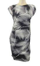 Polyester Formal Scoop Neck Geometric Dresses for Women
