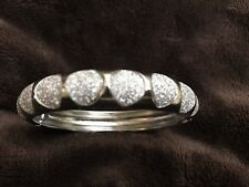Bangle Bracelet Silver Stainless Steel New Clip On Jewelry