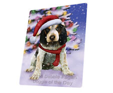 Christmas Bluetick Coonhound Tempered Cutting Board (Large) Db1668