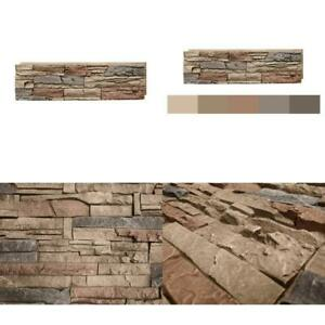Stacked Stone Desert Sunrise 12 in. x 42 in. Faux Stone Siding Panel