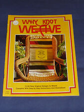 Why Knot Weave Vintage 1977 Instruction Pattern Booklet ~ Retro 70s Project Book