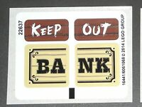 LEGO BANK KEEP OUT STICKERS Western Decals The LEGO Movie Getaway Glider 70800