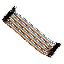 Male to  male Jumper Wire 40 PCS Color Dupont Cable Wire 2.54mm 20CM