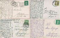 4 1930s GERMAN   POST CARDS   . REF R725