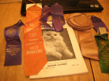 New listing Coll Of Vtg 1940S-1960S Cat Show Award Ribbons And 1960 Wm Penn Cat Club Book