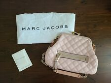 Marc Jacobs Quilted Leather Stam Shoulder Bag With Kiss Lock Pink