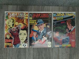 STAR TREK : The Next Generation - LOT of 3 comics - 51, 52, 53 - VF/NM