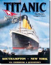 Titanic White Star Line Metal Sign   (de)