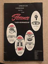 Florence Governess Gas Range Stove Oven Manual & Metal Emblem Antique