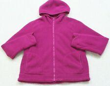 Faded Glory Purple Hooded Sweatshirt Womans Polyester Fleece XL X-Large Full Zip