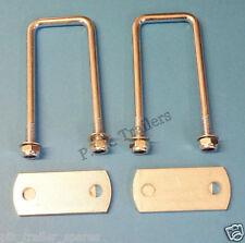 Free P & P * 2 de 50mm X 102mm U Perno Con Placas-Acero Suave-Remolque #TR