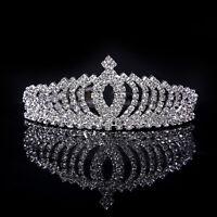 Wedding Bridal Princess Crystal Rhinestone Hair Accessory Tiara Crown Headwear