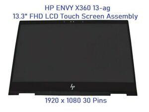 HP ENVY X360 13m-ag 13-ag0502sa FHD LCD Touch Screen Display Assembly Frame