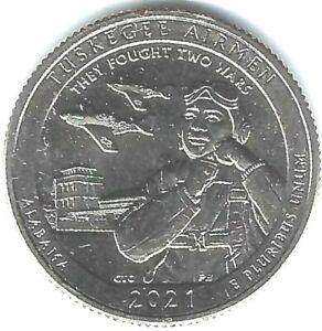 2021-S San Francisco Brilliant Uncirculated Tuskegee Airmen 25 Cent Coin!