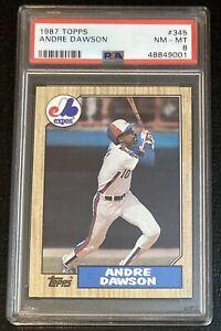 1987 Topps Andre Dawson #345 PSA 8
