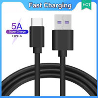 Fast Charge USB Type C Data Sync Charging Charger Cable For HUAWEI Samsun Black