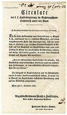 K.u.K. Circular, Verordnung, Oktober 1823, Kupferstichkopien
