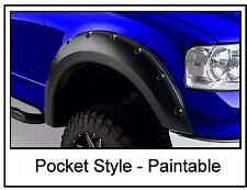 Ford F150 2004-2008 Pickup Fender Flares Rivet Pocket Style Smooth Set Bolt On