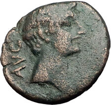 AUGUSTUS 27BC Philippi Macedonia PRIESTS Founding City Oxen Roman Coin i65030