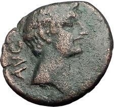 AUGUSTUS 27BC Philippi Macedonia PRIESTS Founding City Oxen Roman Coin i65030