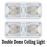 2X 12V Double LED Dome Interior Lights Vehicle RV Ceiling Cabin Camper Roof Lamp
