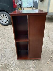 Brown Wooden Antique Style Revolving Bookcase Shelving Unit