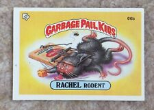New listing Garbage Pail Kids Series 2 Sticker Rachel Rodent 1980s Collectable 66b