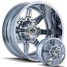 "Mayhem Monstir 20"" Dually Wheels Chrome Ford Dodge Ram GMC and Chevy"